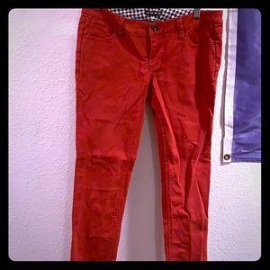 Vans red jeans